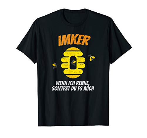 Imker T-Shirt Geschenk Bienen Honig Geschenk Zubehör Biene T-Shirt