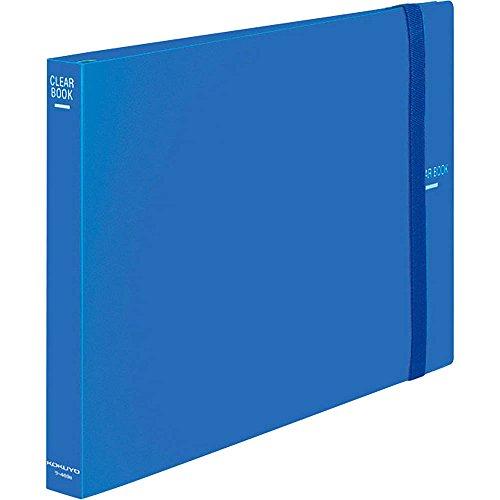 コクヨ ファイル ポケットファイル クリアファイル 替紙式 B4 横 26穴 青 ラ-469B