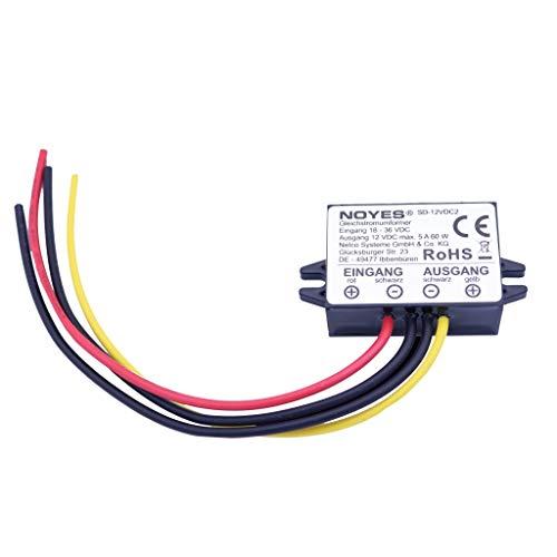 Spannungswandler 24V 36V DC auf 12V DC max. 5A 60W Konverter Stepdown LKW Adapter