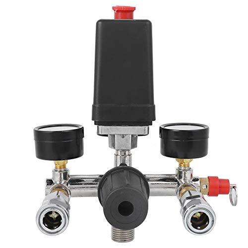 Conjunto de Soporte del Compresor de Aire Interruptor de Presión Manómetro Regulador Múltiple Manómetro Interruptor del Compresor de Aire Accesorios de Bomba Para Bama