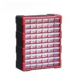ZHANGAIGUO CCCZY Caja de Herramientas Caja de Piezas Multi-Cuadrado Tipo de cajón Componente Caja de Herramientas Bloques de construcción Bloques de Almacenamiento de Tornillo 3 Color (Color : Red)