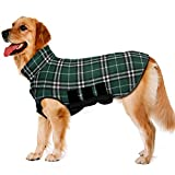 TPYQdirect Dog Coats for Extra Large Size Dogs - Reversible Plaid Dog Jackets - Windproof Waterproof Dog Sweater with Padded Collar, Keep Your Pet Warm in Winter Cold Weather! Green XXXL