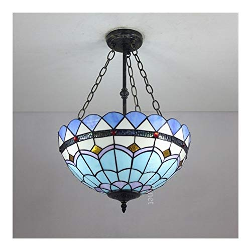 Kandelaar, 16 inch, handgemaakt, Tiffany-stijl, modern, getint, met lamp van gekleurd glas, design Home Decor