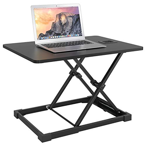 Homfa Sitz-Steh-Schreibtischaufsatz Sit-Stand Workstation Desktop Steharbeitsplatz höhenverstellbar 65x47cm