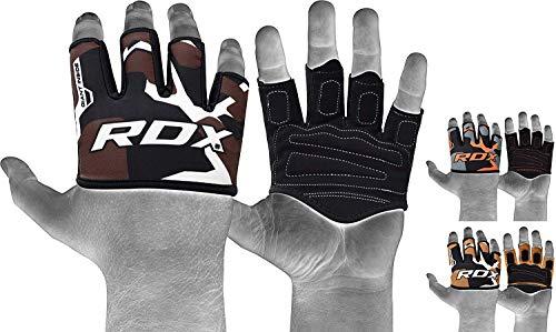 RDX Levantamiento Almohadillas De Agarre Tipo Guantes para Gimnasio, Entrenamiento, Training Gym...