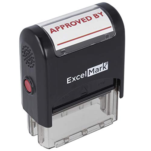 Approved by  ExcelMark SelfInking Rubber Stamp  A1539 Red Ink