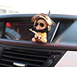 WINDFRD Motorcycle Bike Bicycle Handlebar Decorations With Propeller Cool Tech Accessories For Car Dashboard Rubber Toy Cool Stuff Gift For Kids Boys(Gold)