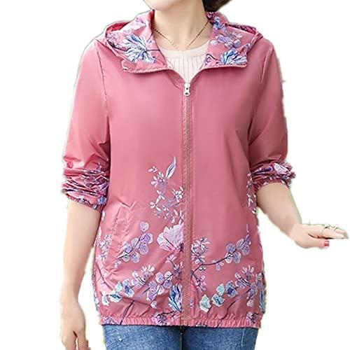 Chaquetas de mujer Ropa de abrigo de verano delgada con capucha impresa chaqueta