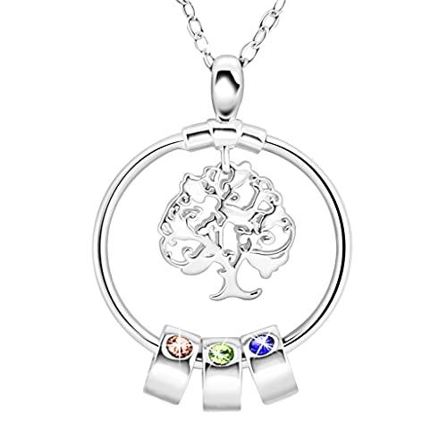 Wenyounge Collar de árbol de la Vida para Mujer Collar Colgante de árbol de la Vida de Oro joyería de árbol de la Vida para Mujer Collar más Largo para mamá