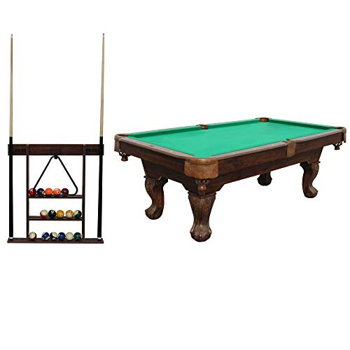 "Lancaster 90"" Ball and Claw Billiard with Cue Rack and Accessories (Green)"