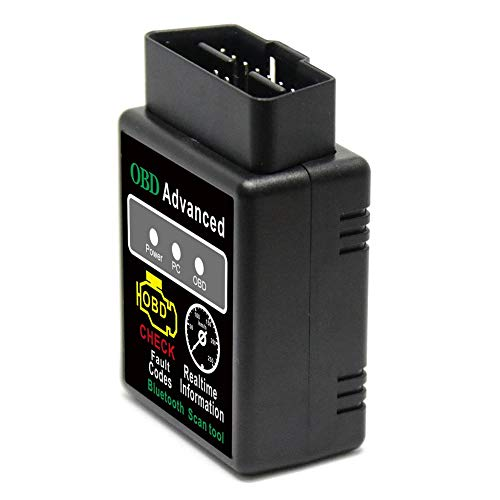 Friencity Bluetooth OBD2 Scanner Adapter, Vehicle Code Reader for Car Diagnostic OBD II Scan Tool Read/Clear Check Engine Light, Compatible with Android Windows, Support Torque &Lite, Car Scanner App