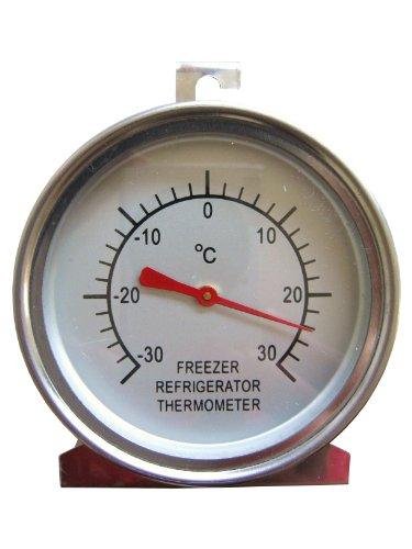 Dr. Richter Kühlschrankthermometer Gefrierschranktherometer -30°C Thermometer Kühlschrank Gefrierschrank Edelstahl
