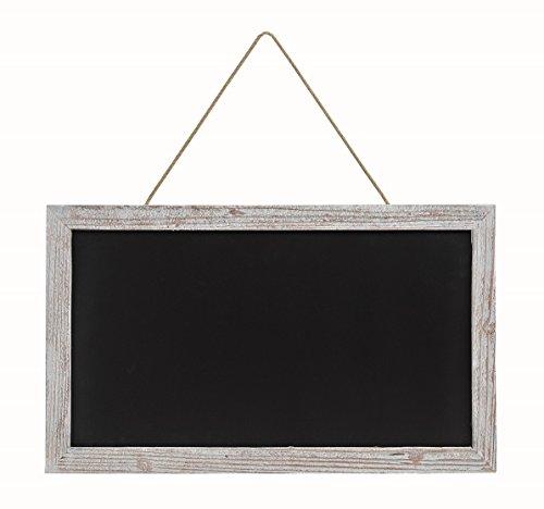 Geschenkestadl Große Kreidetafel Memotafel zur Beschriftung 63 x 38 cm Küchentafel Holzrahmen Tafel zum Hängen Wandtafel