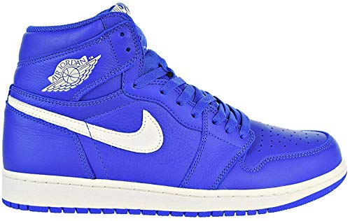 Nike Air Jordan 1 Retro High OG Hombres Basketball 555088 Sneakers Turnschuhe (UK 10 US 11 EU 45, Hyper Royal Sail 401)