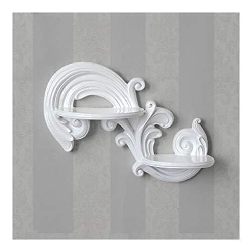 Escultura de la pared Decorativo estante, estante de la pared, la resina de partición de la pared Tabla colgado, decorativo estante en la pared, colgados de la pared del estante Junta tridimensional c