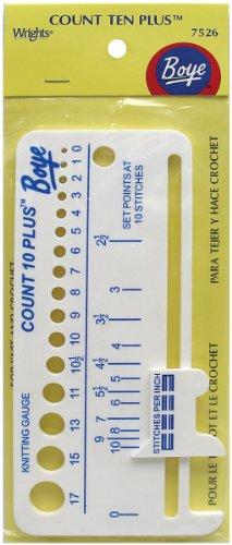 Boye 7526 Count Ten Plus Plastic Knit Gauge