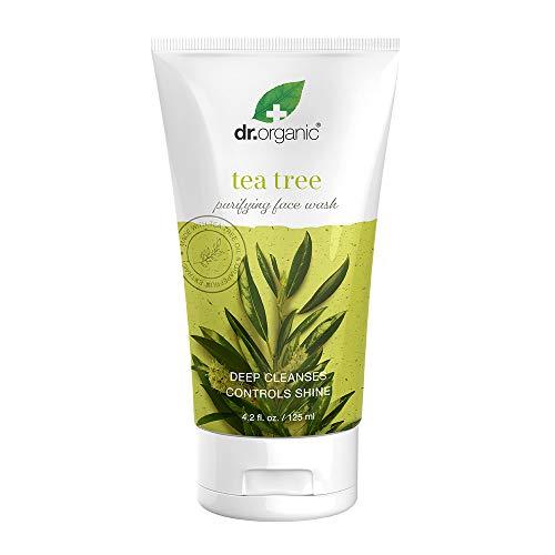 Dr.Organic Purifying Face Wash with Organic Tea Tree Oil, 4.2 fl oz