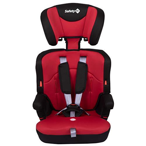 Safety 1st Ever Safe Plus Silla Coche grupo 1 2 3, crece con el niño 9 meses - 12 años (9-36 kg), con cojín reductor extraíble, color Rojo