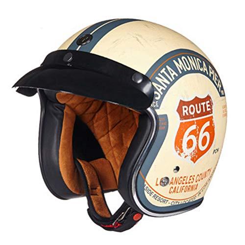 Retro Motorradhelm Capacetes Open Face 3/4 Chopper Fahrradhelm DOT Jet Helm Retro Modular Motorradhelm Maske