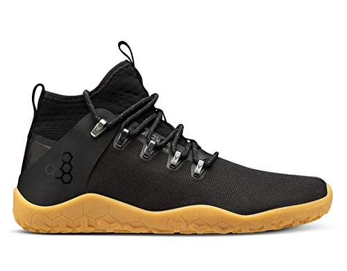 Vivobarefoot Magna Trail, Womens Vegan Multi-Terrain Hiking Shoe with Barefoot Sole & Thermal Protection Black Gum