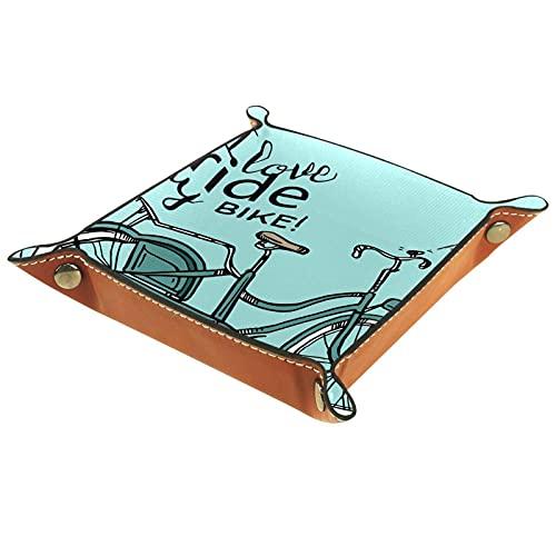 Bandeja del valet del almacenamiento del escritorio, almacenamiento plegable de cuero de...