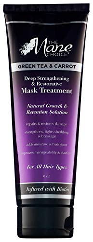 THE MANE CHOICE Green Tea & Carrot Deep Strengthening & Restorative Mask Treatment(8 Ounces /...