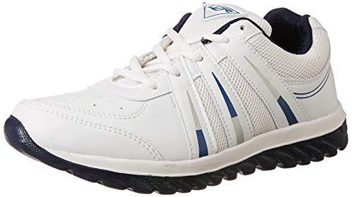 Lancer Men's White-Navyblue Running Shoes-8 (INDUS)