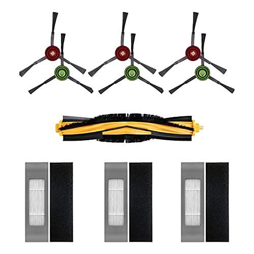 HALIEVE Filter Bürste Ersatzteile Zubehör Set für Ecovacs DEEBOT OZMO T8 AIVI Staubsauger Roboter