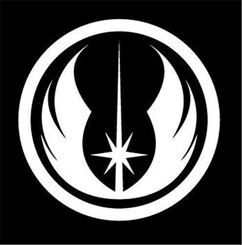 pegatina de pared pegatina de pared frases Etiqueta del coche Etiqueta del coche Star Wars Jedi Orden Logotipo Etiqueta Etiqueta del coche de la ventana blanca 5