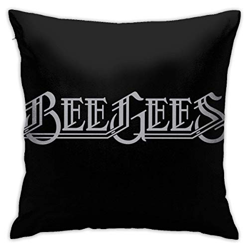 pingshang Bee Gees Pilloase Funda de cojín de algodón y poliéster, 45 x 45 cm