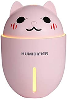 HOOBBI Humidificador de Aire 3 en 1 for el hogar Esencial del difusor del Aceite del Aroma Fogger humidificador ultrasónico del USB con la luz del Ventilador 320ml