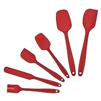 fuktsysm spatole silicone - 6 pcs spatole silicone, utensili da cucina in silicone resistente al calore antiaderenti premium set da cucina per cottura, cottura e miscelazione
