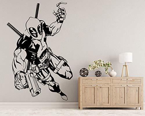 Das LxLab   Deadpool Wandtattoo   Marvel Vinyl Aufkleber   Superhelden   Hohe Qualität   Drei verfügbare Dimensionen (S)