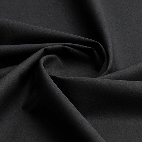 Tejido liso en 100 % algodón, 150 cm de ancho por metro, algodón, negro, 100 x 150 centimeters: Amazon.es: Hogar