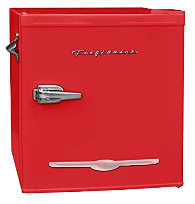 FRIGIDAIRE EFR176-RED 1.6 cu. ft. Retro Bar Fridge with Side Bottle Opener, Red