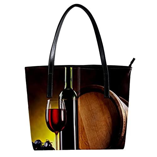 LORVIES - Copa de vino con bandolera de piel sintética y bolsos de mano para mujer