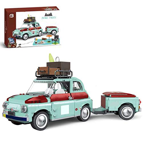 GUDA Juego de construcción para coche, 1475 piezas, bloques de construcción para turismo, picnic, trailer, tractor, juego de bloques de construcción para adultos y niños, compatible con Lego