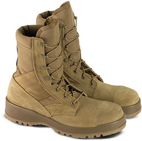 """Thorogood Men's 803-8000 8"""" Military Footwear - Safety Toe Boot, Coyote - 3.5 W"""