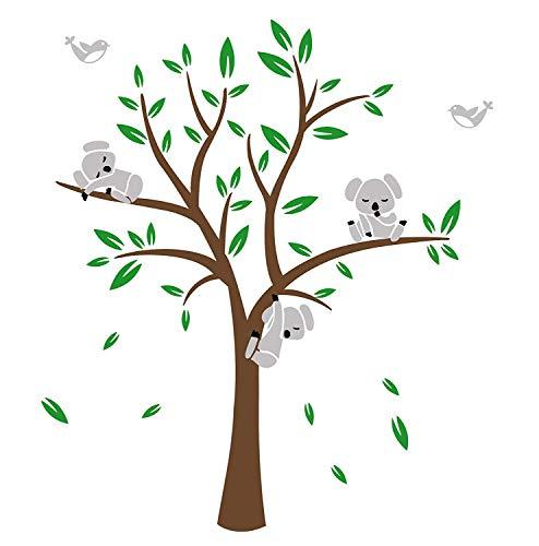 BDECOLL Koala-Baum Wandsticker-baum wandtattoo wandaufkleber-Vinylwand Aufkleber WandKunst für Kinderzimmer Dekoration