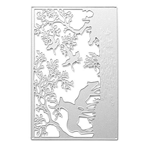 yhdcc44 Hohe Qualität Kohlenstoffstahl Stirbt Schablone, Waldtiere Metall Stanzformen Schablone DIY Scrapbooking Album Stempel Papier Karte Präge Decor Handwerk