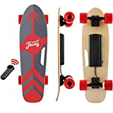"Tooluck 27.5"" Electric Longboard Electronic Skateboard 20KM/H 350W Singal Motor 7 Layers Maple Longboard with Wireless Remote Control for Adult Youth (red)"