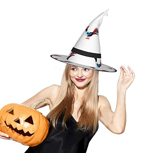 Cock Halloween Witch Hat LED Light Cosplay Party Ornament