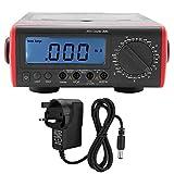 Digital Multimeter, UT801 Bench Type LCD Display Digital Multimeter Thermometer 1999 Counts(UK Plug 240V)