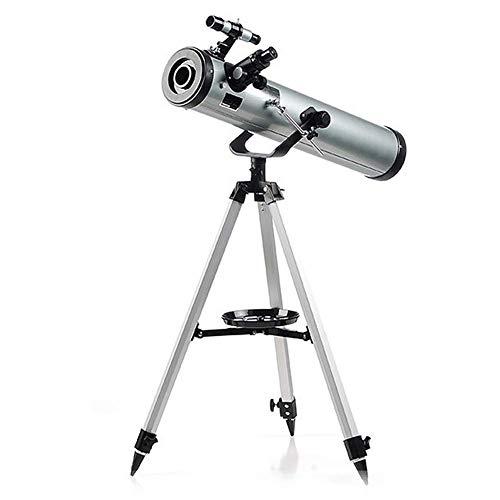 WYJ Telescopio Astronómico HD Duradero HD 76 / 700Mm con Ocular de So