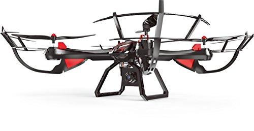 Tekk Drone 1327C Vampire Drone Semiprofessionale 60 cm con Camera HD, Nero/Rosso/Grigio