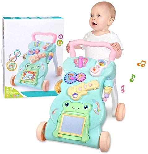 SONG Baby Push Walker Multifuncional con Música,Centro de Actividades para Niños Juguete de Andador de Velocidad Ajustable para Niños Pequeños de 0 a 2 años