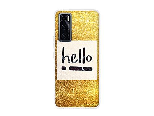 etuo Hülle für Vivo Y70 - Hülle Design Hülle - Hello Gold - Handyhülle Schutzhülle Etui Hülle Hülle Cover Tasche für Handy