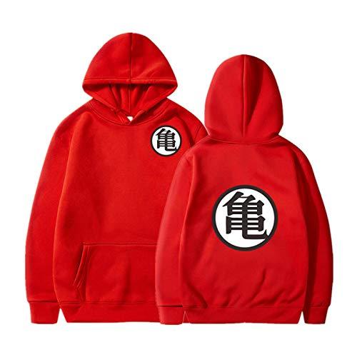 GIRLXV Goku Sudaderas con Capucha Sueltas suéter con Capucha de Gran tamaño Hombres Moda Deportiva Hip Hop Sudadera Bolsillo pulóver Superior 4XL