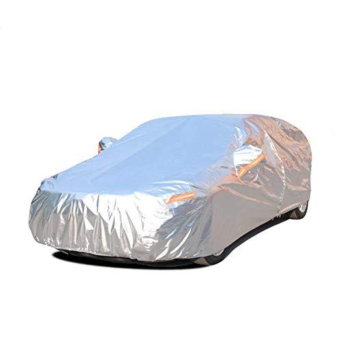 Cubiertas de aluminio a prueba de polvo de coches a prueba de agua al aire libre resistente a arañazos Protección UV adapta a la mayoría de vehículos