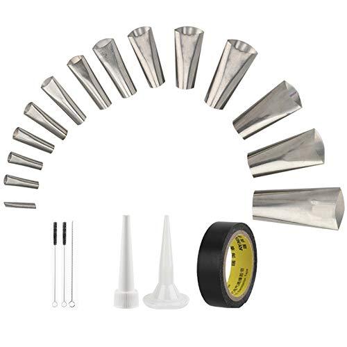 Lnlofen Perfect Caulking Finisher Kit - 14Pcs - Caulk Nozzle Applicator - Reusable Caulking Finishing Tool - Stainless Steel Sealant Caulking Tool Kit for Kitchen Bathroom Window